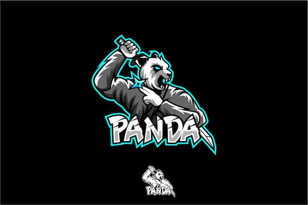 Logo esportu ninja panda