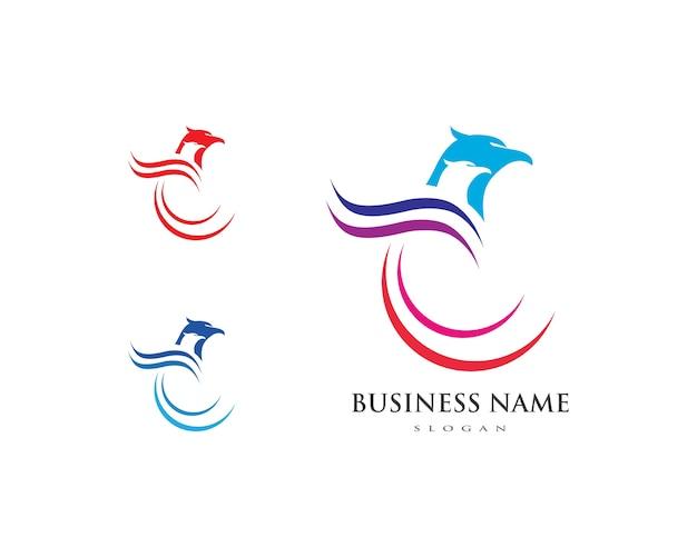 Logo falcon eagle bird