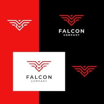 Logo falcon, hawk, eagle strong monogram