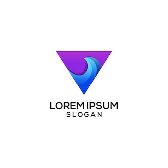 Logo fali trójkąta
