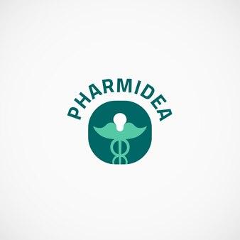 Logo farmaceutyczne caduceus idea