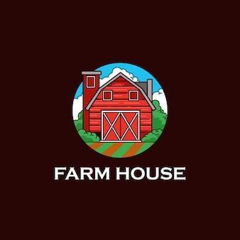 Logo farmy rolnictwo vintage trawa