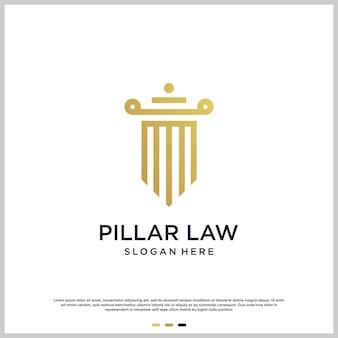 Logo filarowe z nowoczesną koncepcją prawa premium wektorów
