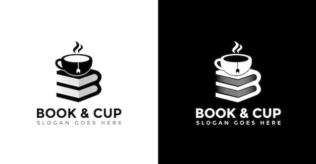 Logo filiżanki i książki