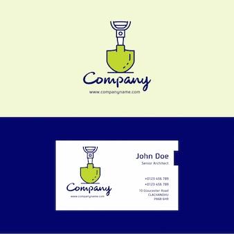 Logo firmy budowlane i szablon wizytówki