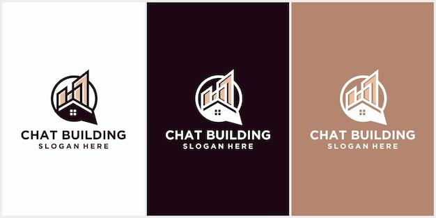 Logo firmy budowlanej w kolorze brązowym. logo linii geometrycznej. szablon logo nieruchomości wektor ikona design