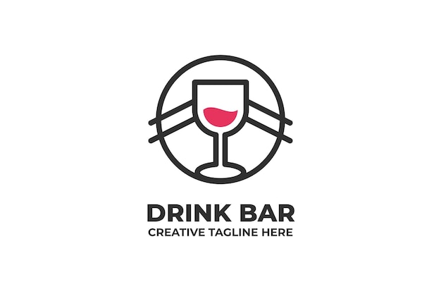 Logo firmy drink bar cafe
