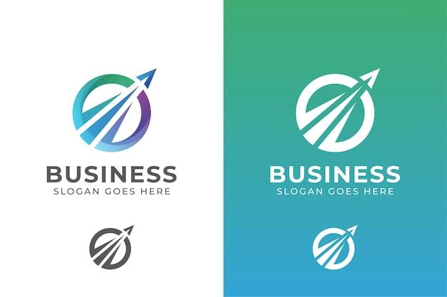 Logo firmy eleganckie koło. logo biura podróży biznesowych