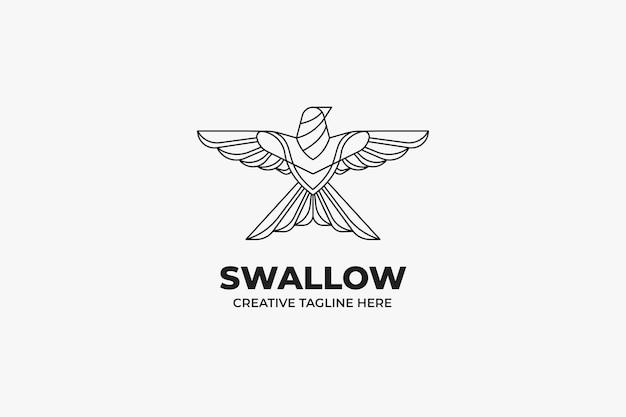 Logo firmy freedom swallow bird monoline