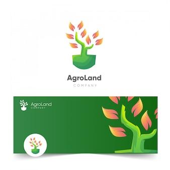 Logo firmy lądowej agro