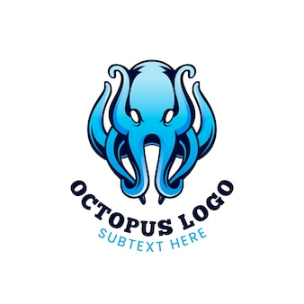 Logo firmy octopus w niebieskich odcieniach