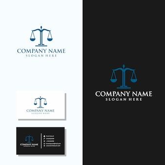 Logo firmy prawniczej z projektem wizytówki
