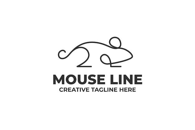 Logo firmy prosta linia myszy