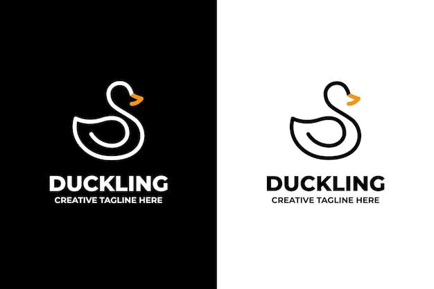 Logo firmy sylwetka kaczki łabędzia