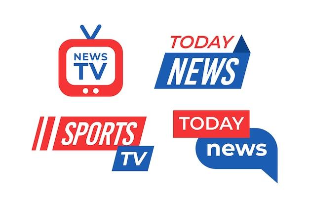 Logo firmy wiadomości wstążka biznes