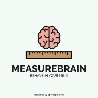 Logo firmy z mózgu i linijki