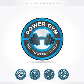 Logo fitness i gym blue