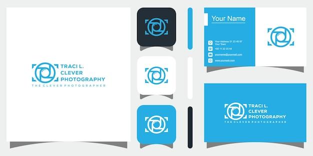 Logo fotograficzne w kolorze czarnym premium wektorów