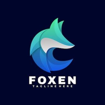 Logo fox gradient kolorowy styl.