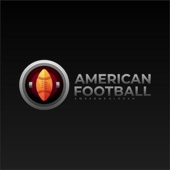Logo futbolu amerykańskiego gradientu kolorowy styl.