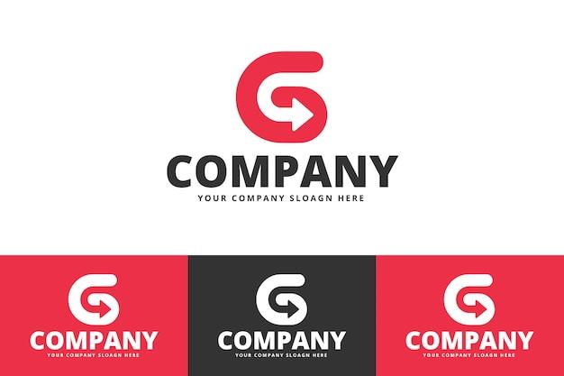 Logo g creative wektorowej litery