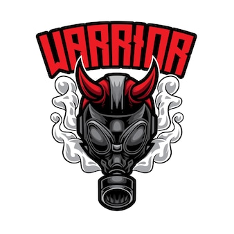 Logo gas man warrior esport