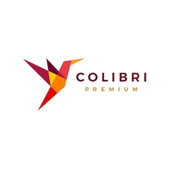 Logo geometryczne kolibra.