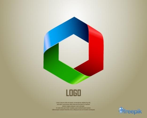 Logo geometryczne sześciokąt