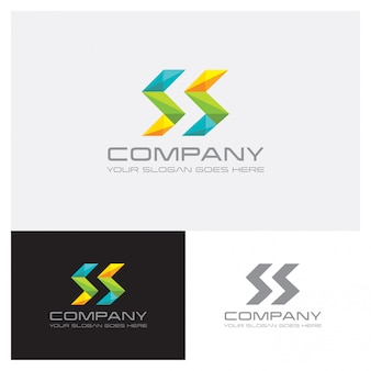 Logo geometryczny kształt litery s.