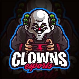 Logo gier e-sportowych clowns