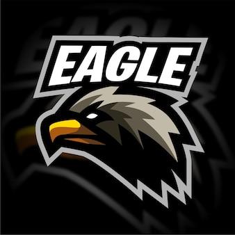 Logo gier e-sportowych z głową orła