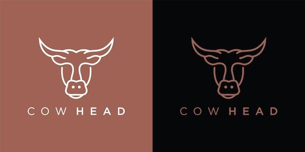 Logo głowa krowy