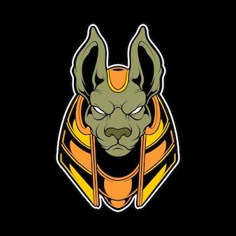 Logo głowy anubis
