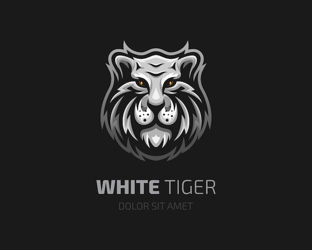 Logo głowy białego tygrysa