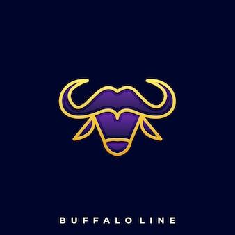 Logo głowy buffalo