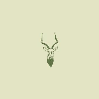Logo głowy gazeli