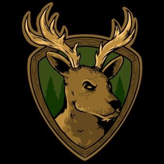 Logo głowy jelenia