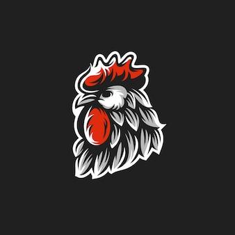 Logo głowy koguta