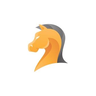 Logo głowy konia rycerza