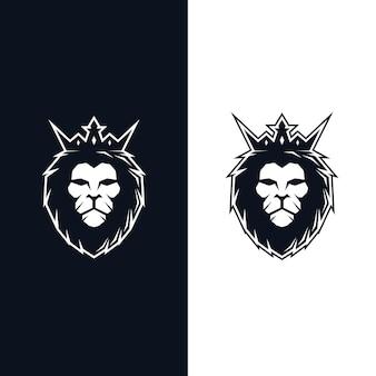 Logo głowy króla lwa