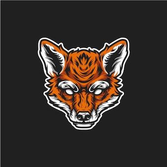Logo głowy lisa