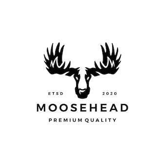 Logo głowy łosia