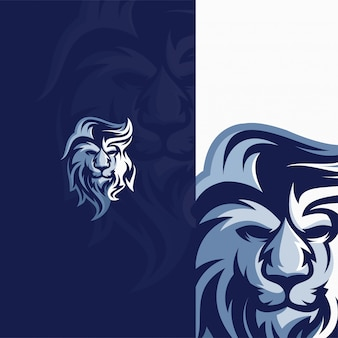 Logo głowy lwa dla szablonu