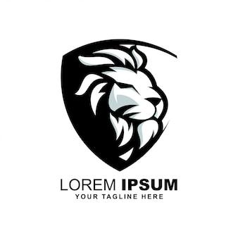 Logo głowy lwa