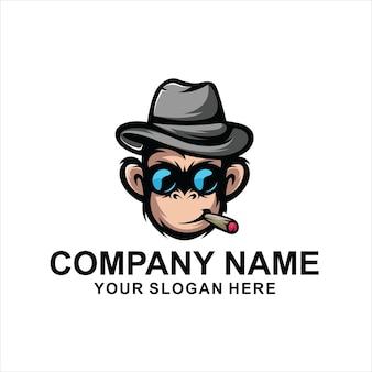 Logo głowy małpy