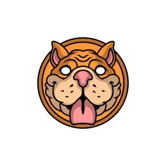 Logo głowy psa