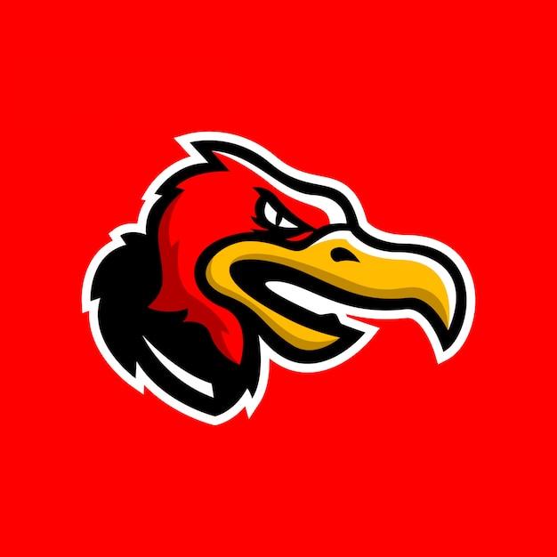 Logo głowy sępa
