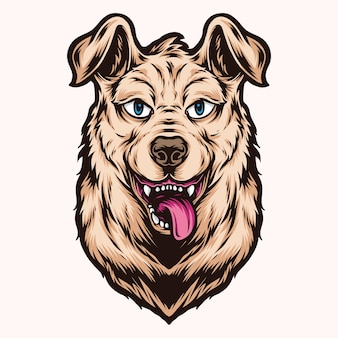Logo głowy słodkiego psa