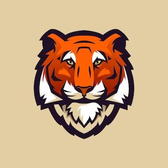 Logo głowy tygrysa dla klubu sportowego lub zespołu.
