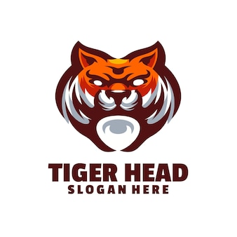 Logo głowy tygrysa, które jest eleganckie i dostojne, odpowiednie dla wszystkich powiązanych branż